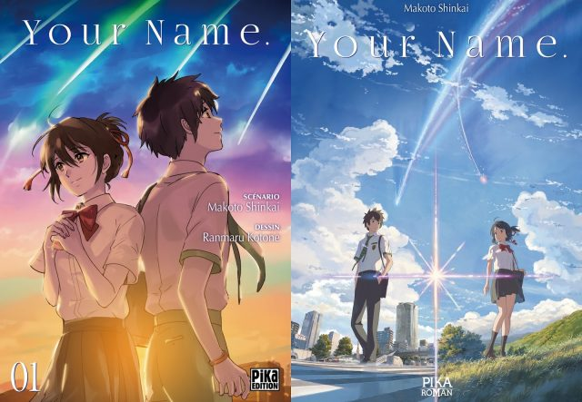 L'adaptation en manga et roman de Your Name chez Pika _dition