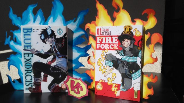 Emilie Perin fire force vs blue exorcist !